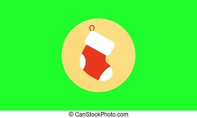 green screen , christmas icon , boot
