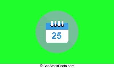 green screen , christmas icon , calendar