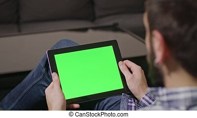 Green Screen Digital Tablet PC Man