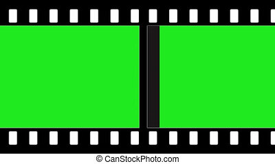 green screen film strip to add your own footage