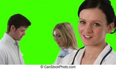 Green Screen Footage of a medical Team 5
