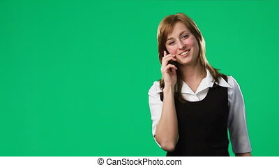 Green Screen Footage of a woman on the phone