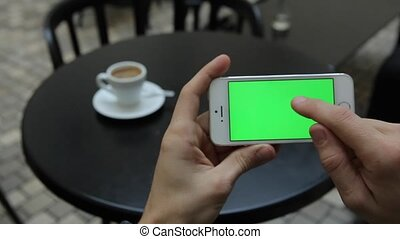 Green Screen in White Phone