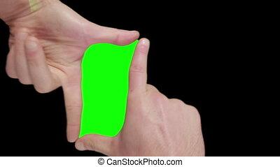 Green screen into hands