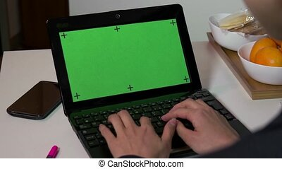 Green Screen Monitor Businesswoman