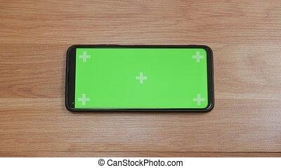 Green screen smartphone horizontal orientation