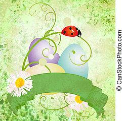 green scroll easter eggs