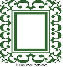 Green Scroll Frame