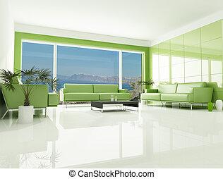 green sea house