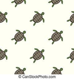 Green sea turtle pattern seamless