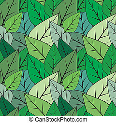 Green seamless abstract leaves vector texture