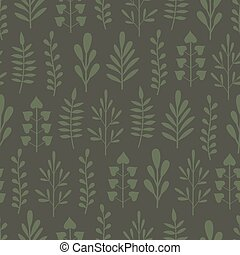 Green seamless background with plants
