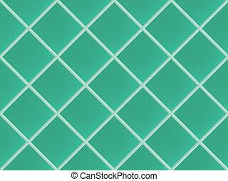 green seamless ceramic pattern