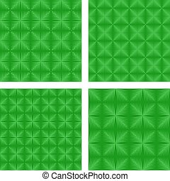Green seamless pattern background set