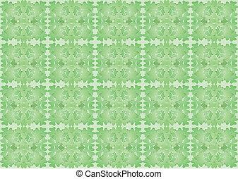 pattern made of shamrock