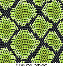 Green seamless pattern of reptile skin - Green seamless...