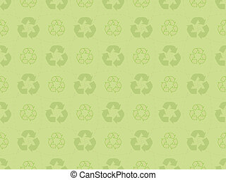 pattern with recycle icons