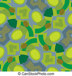 Green Seamless Shapes