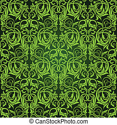 Green Seamless Wallpaper Pattern