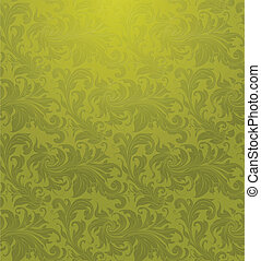 Green Seamless wallpaper pattern, vector