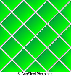 green shadowed ceramic tiles, abstract vector art illustration