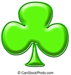 shamrock - Green shamrock clip art background or frame