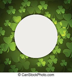 Green shamrock clovers St. Patrick Day