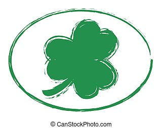 Green Shamrock Grunge Stamp 1