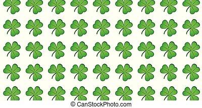 green shamrock pattern clover leaf background