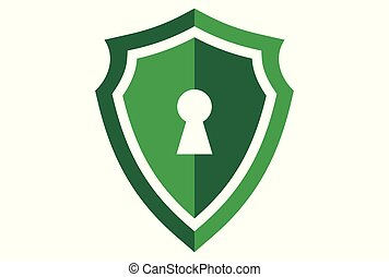 green shield protection lock logo