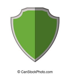 green shield protection stamp shadow