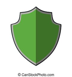 green shield protection trendy insignia shadow