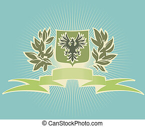 Green shield with eagle