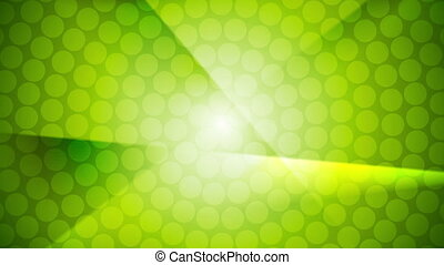 Green shiny abstract video animation
