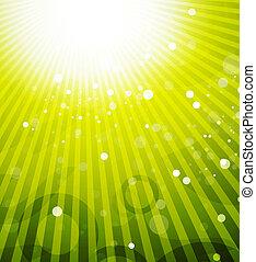 Green shiny vector background