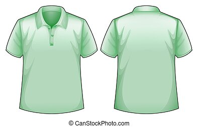 Green shirt - Front and back view of a green shirt