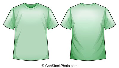 Green shirt - Green t-shirt with front and back view