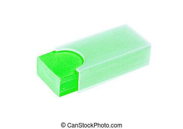 green shool eraser