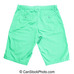 green short on white background