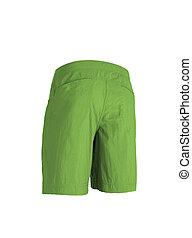 green shorts isolated on white background