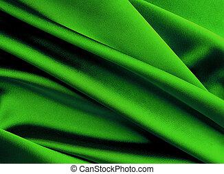 Green silk background. - Green new year smooth silk...