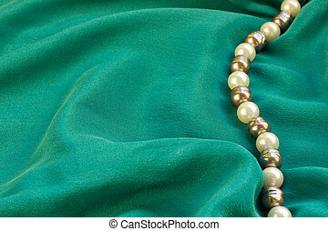 silk with pearls