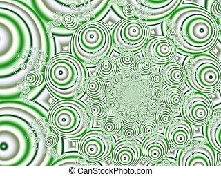 Green & silver circles
