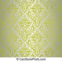 green & silver vintage wallpaper de