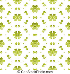 Green Simple Floral Seamless Background