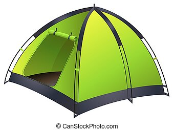 Green single camping tent