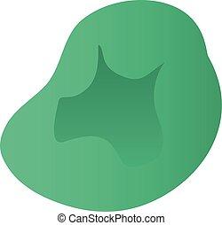 Green sit bean icon, isometric style