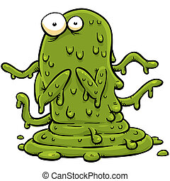 Green Slime Monster - A cartoon monster made of green slime.