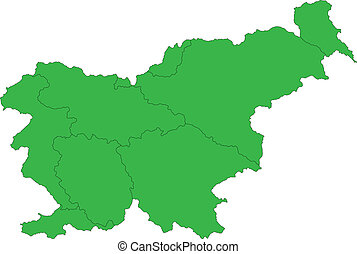 Green Slovenia map