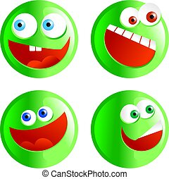 green smilies